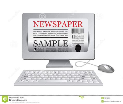 Online Newspapercomputer And News Website Royalty Free Stock Photo  Image 18282885