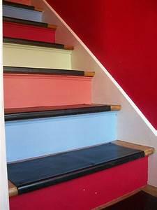 Contre Marche Deco : marches noires et contre marches couleurs escaliers stairs pinterest deco d co int rieure ~ Dallasstarsshop.com Idées de Décoration