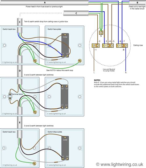 Way Light Switching New Cable Colours Wiring