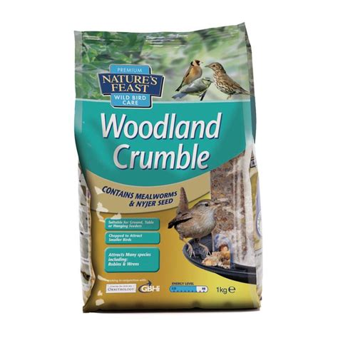 1kg woodland crumble bird seed mix buy online at qd stores