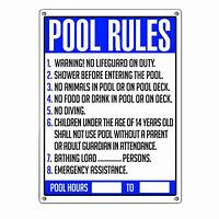 pool rules sign Poolmaster Pool Rules Swimming Pool Sign-40326 - The Home ...