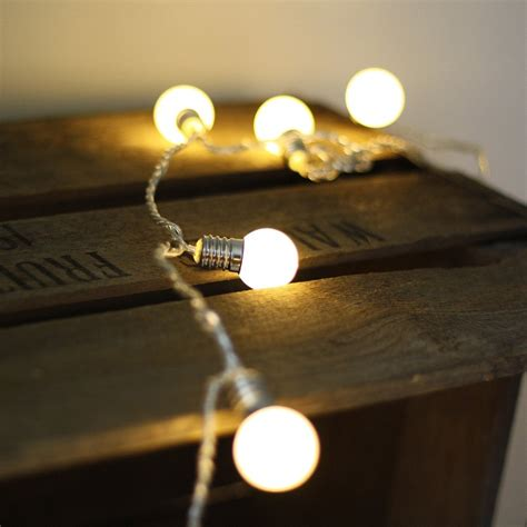 mini globe string of light bulbs 2m the wedding of my dreams