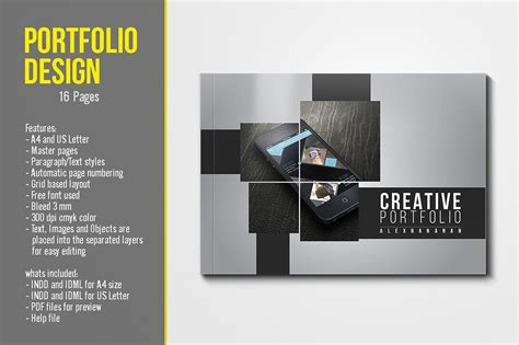 Portfolio Brochure Template Portfolio Template Brochure Templates Creative Market