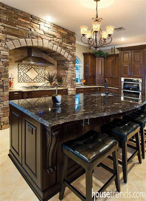 kitchen islands with granite countertops kitchen island gets a central location 8308