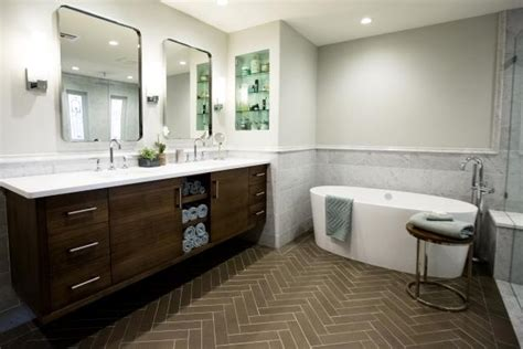 Spa Bathroom Vanity by Spa Bathroom With Freestanding Tub And Contemporary