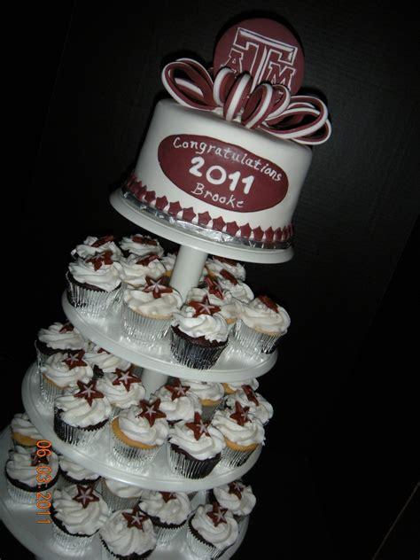 texas  graduation cupcake tower cakecentralcom