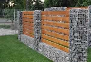 Mur En Gabion : mur gabion dans le jardin moderne un joli l ment fonctionnel ~ Premium-room.com Idées de Décoration