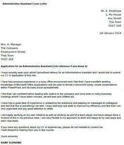 cover letter exles for administrative assistant administrative assistant cover letter exle icover org uk