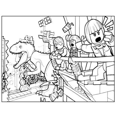 Kleurplaat Indominus Rex by Leuk Voor De Indominus Rex Verwoest Het Park