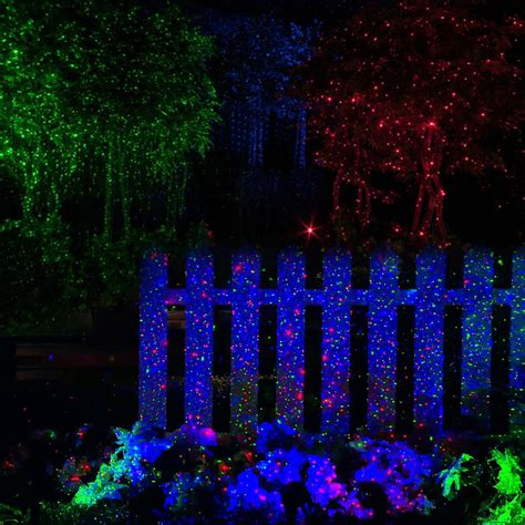 led garden laser festive lights 2x rgb led dynamic firefly laser projector light outdoor