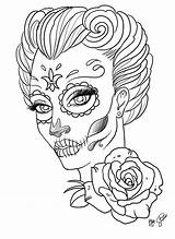 Coloring Skull Pages Sugar Adults Popular sketch template