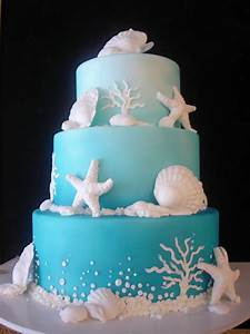 blue summer beach wedding cake iPunya