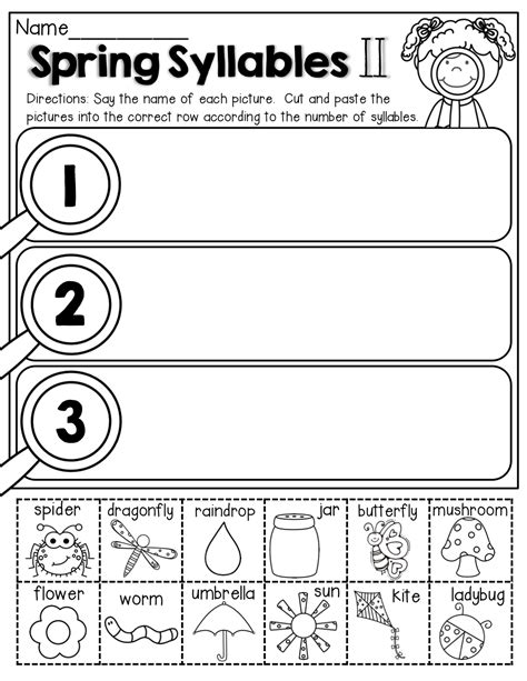 syllables cut and paste best of back to school