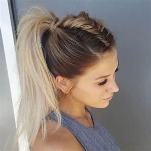Coiffure Tresse Facile Cheveux Mi Long : coiffure avec tresse cheveux mi long beaute tresse ~ Melissatoandfro.com Idées de Décoration