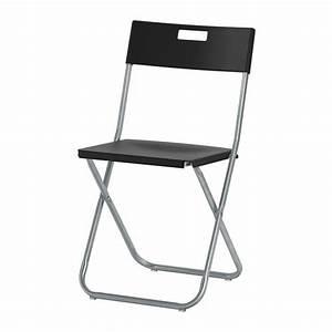 Chaise Noire Ikea : gunde chaise pliante ikea ~ Teatrodelosmanantiales.com Idées de Décoration