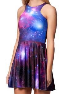 Purple Galaxy Dress Skater