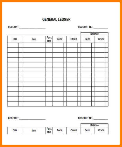 blank accounting ledger ledger review