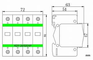 Type 3 20ka Pluggable Modular Surge Protector  Lightning Protection Equipment
