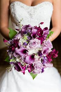 Wedding Flowers, Purple Wedding Bouquet, Purple Calla Lily ...