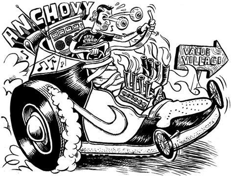 zettwochs suitcase hot rod drawings