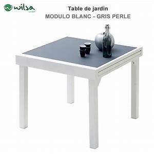 Table De Jardin Blanche : table de jardin modulo 4 8 places blanche gris perle603280 wilsa ga ~ Teatrodelosmanantiales.com Idées de Décoration