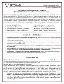 resume format for customer service executive customer service manager resume exle