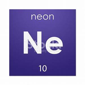 Neon chemical Element Stock s Free