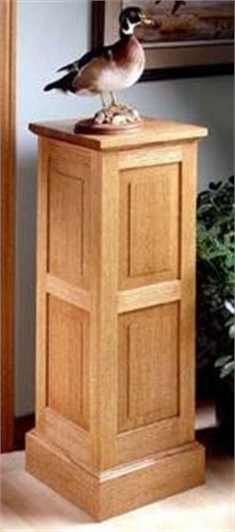 pedestal stand woodworking plans  information