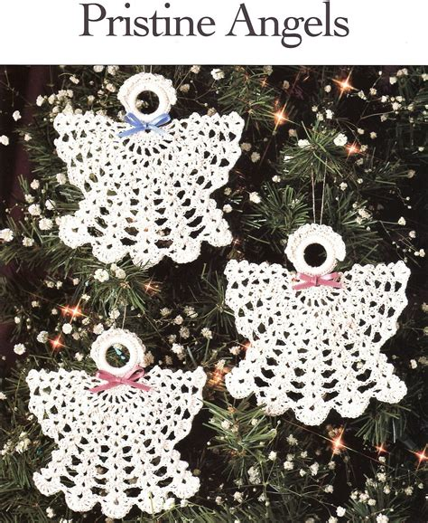 pristine angels crochet patterns christmas ornaments thread holiday
