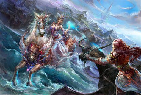 forsaken world shenmo  girls fantasy elves