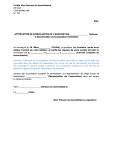 domiciliation siege social exemple gratuit de lettre autorisation domiciliation une