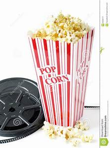 Old Film Reel With Popcorn Royalty Free Stock Photography ...