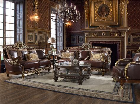 The soothing colours make the room seem more comfortable and homely. HD 89 Homey Design Upholstery Living Room Set Victorian ...
