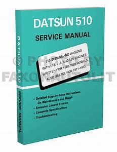 Datsun 510 Factory Repair Shop Manual For 1968