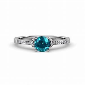 nessa london blue topaz and diamond bridal set ring With london blue topaz wedding ring set