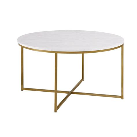 Everything has a cost behind it and because i don't believe in phony gimmicks such as free delivery, i charge a reasonable fee for delivery based on the value of your order. 2-Piece Round Coffee Table Set - White Faux Marble / Gold