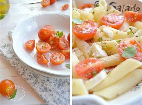 pates tomates cerises mozzarella salade de p 226 tes tomates et mozzarella 192 lire