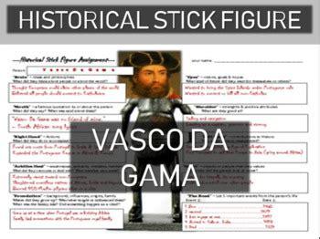 Vasco Da Gama Biography by Vasco Da Gama Historical Stick Figure Mini Biography Tpt