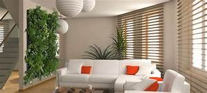 idees decoration un mur vegetal d39interieur caractere With idee deco mur interieur
