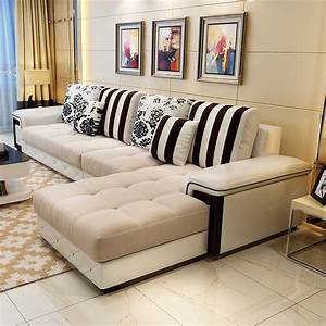 Chapin simple sofa small apartment washable fabric sofa for Small beige sectional sofa
