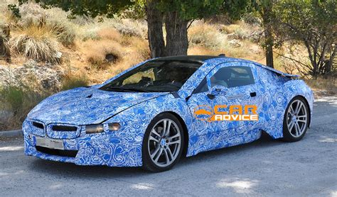 bmw i8 plug in hybrid sports car spied hot weather