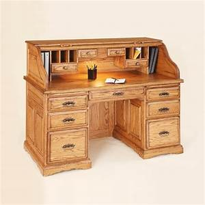 "55"" Roll Top Writing Desk - Country Lane Furniture"
