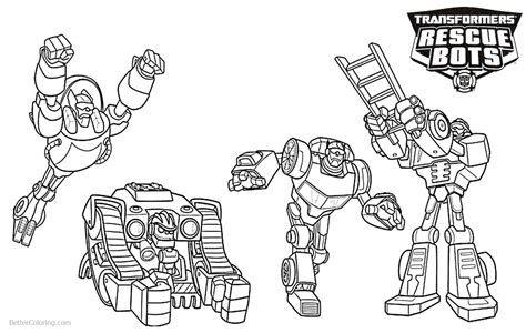 transformers rescue bots characters coloring pages
