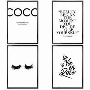 Coco Chanel Bilder : bilderrahmen schwarz wei bilder top 10 liste 2019 ~ Cokemachineaccidents.com Haus und Dekorationen