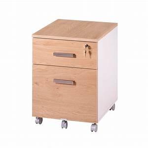 Caisson De Bureau : caisson de bureau 2 tiroirs ineo blanc ch ne clair plumier simmob ~ Teatrodelosmanantiales.com Idées de Décoration