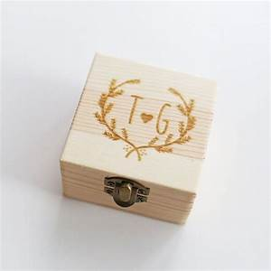 custom wedding ring box personalized wedding ring by With custom wedding ring box