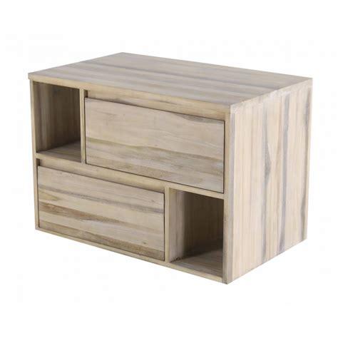 meuble de cuisine suspendu meuble de salle de bain teck 2 tiroirs 90 cm elixir zago