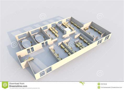 bureau plan plan du bureau 3d photos libres de droits image 23976048