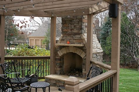 Wood Deck Ideas With Fire Pit