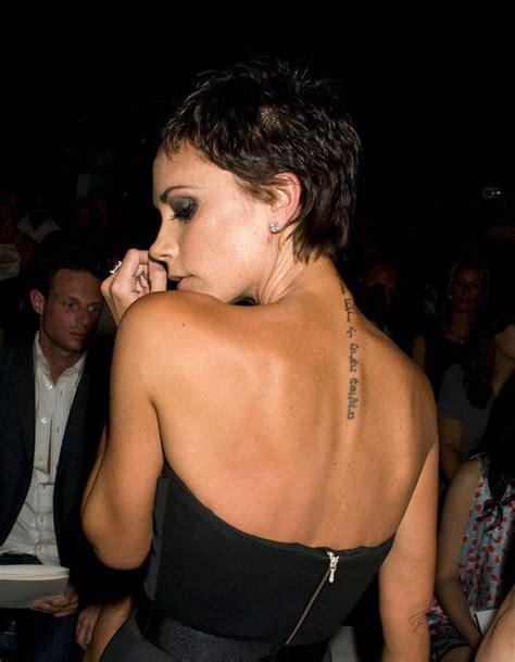 le tatouage de victoria beckham tattoo inspirez vous